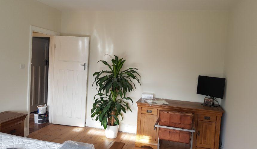 Painted bedroom in sanderstead south croydon