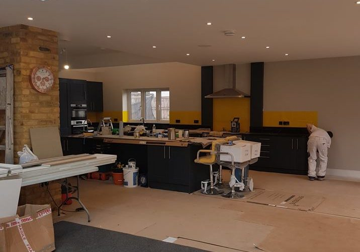 Select Decorators painting and decorating a residential kitchen