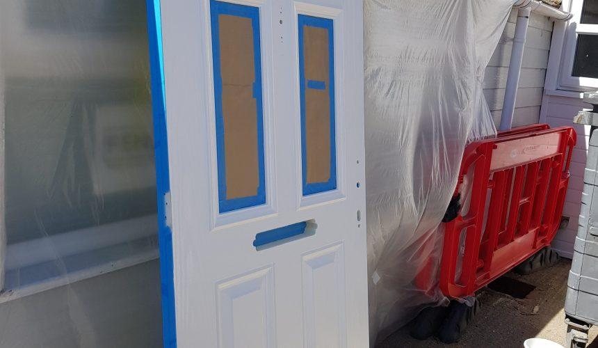 Sprayed uPVC front door in East Grinstead