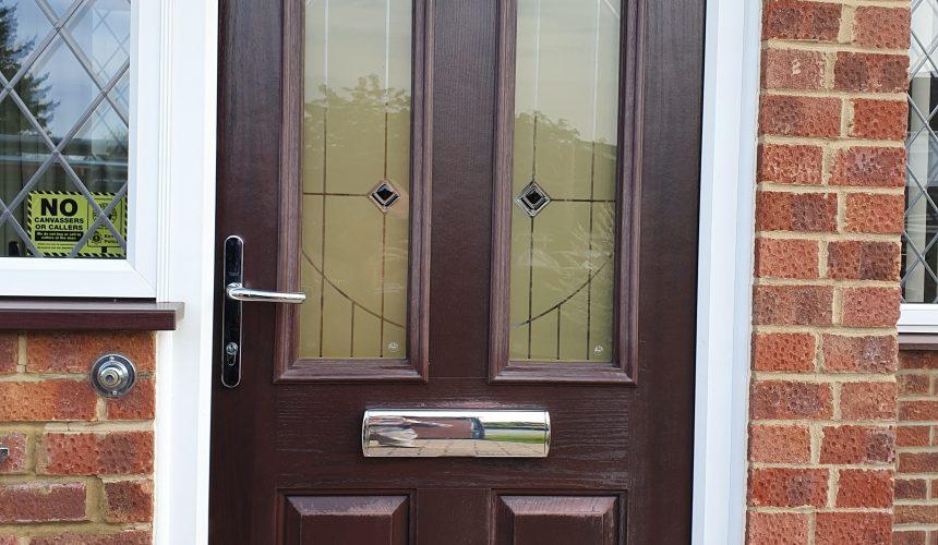 Composite/uPVC door sprayed