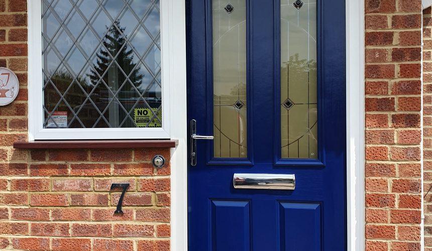 Composite / uPVC front door spraying