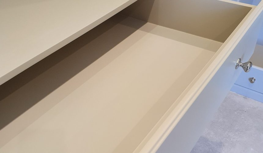 Sprayed bespoke wardrobes