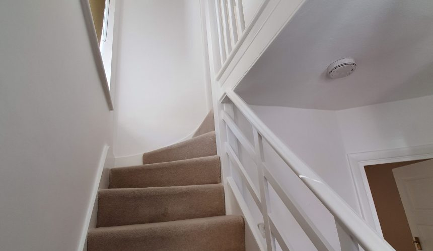 Decorating complete to hall stairs and landing in Epsom