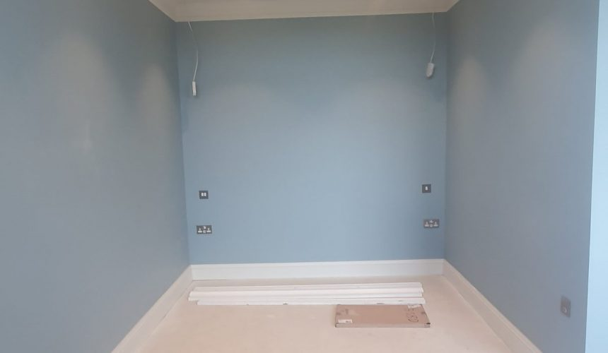 Bedroom painted new build