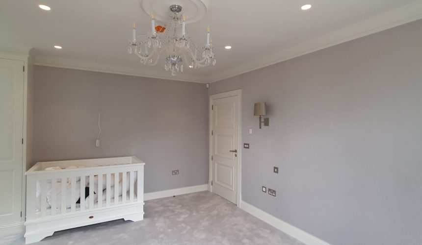 Bedroom fabric wall covering in kent